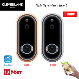 Wireless Doorbell Camera 1080P WiFi Video Door Intercom IR Smart Security Bell