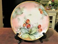 Vintage HR Bavaria Hutschenreuther Selb Decorative Plate Strawberries Signed 7.5
