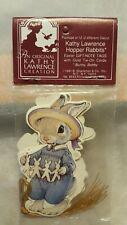 "1991 Kathy Lawrence Hopper Rabbits ""Bunny and Bobby"" Set of 12 Gift Tags RARE"