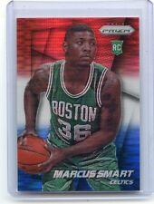 """2014-15 PANINI PRIZM #256 MARCUS SMART """"RED WHITE & BLUE"""" REFRACTOR RC, 032215"""