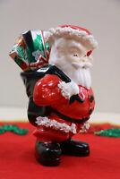 Mid Century Christmas Spaghetti Trim Santa Claus Planter  1950's Napco S937M