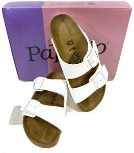 Papillio By Birkenstock Women's Size 4 (EU35)Narrow White Leather Sandals KC-192