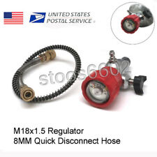 M18x1.5 Thread Hpa Tank 4500Psi Valve Gauge With Hose&Fill Station For Pcp Game
