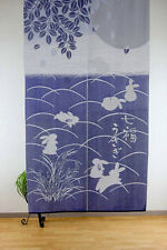 JAPANESE Noren Curtain NEW RABBIT USAGI HAPPY MADE IN JAPAN