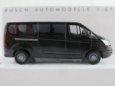 Busch 52421 Ford Transit Custom Bus (2012-2018) in schwarz 1:87/H0 NEU/OVP