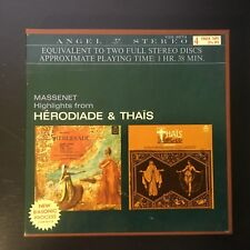 4 Track RTR Tape Massenet Highlights Herodiade & Thias Angel 3 3/4 IPS Stereo