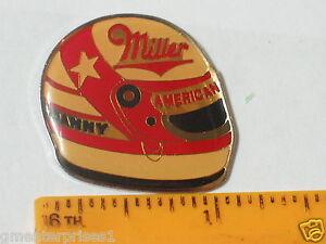 Danny Sullivan Pin  Miller Racing  Driver Racing Vintage Star Helmet  Pin (#125)