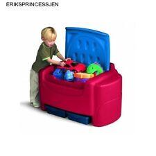 Little Tikes Toy Chest Box Large Bin Organizer Storage Toys Playroom Child Blue