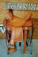 "16"" G.W. CRATE WADE RANCH ROPING SADDLE CUSTOM MADE IN ALABAMA FREE SHIP ROPER"