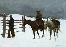 The Fall of the Cowboy  by Frederic Remington   Giclee Canvas Print Repro
