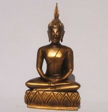 Thai Wooden Gold Handcarved Buddha 24cm tall from Thailand Brand New Fair Trade