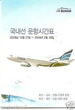 Airline Timetable - Air Busan - 27/10/08 (Korea) - S