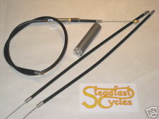 "Throttle cable Norton Commando 1 to 2 complete Barnett total sheath length 37.5"""