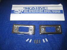 Mini Cromo Puerta Abridor De Escudos, Interior Placa de cierre rectángulo xy55