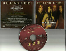 KILLING HEIDI Mascara  w/ 2 RARE MIXES & SPOKEN WORD PROMO DJ CD single USA 2000