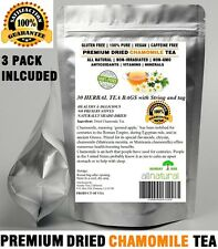 Chamomile Tea 90 Bags 100% Natural Premium Calming Tea Resealable Pouch