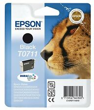 Epson T0711 Black Ink Cartridge for Stylus SX400 SX405 SX415 SX600FW Boxed New