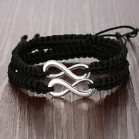 2x Infinity Bracelet Set Couple Best Friends Sister Mother Daughter His and Hers