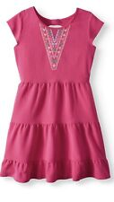 NWT GIRLS Embroidered Ruffled Tier DRESS SIZE XL 14 16 14/16 NEW