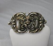 Victorian Angel Cherub Brooch Sterling Silver Belle Epoque Wedding Jewelry c1880