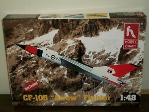 """Hobbycraft 1/48 Scale CF-105 """"Arrow"""" Fighter - New Tooling"""
