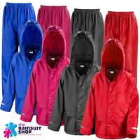 Childs Waterproof Jacket+Trousers Suit Rainsuit Kids  Boys Girls 3-12yr