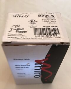 MRD9-W wireless fan control Miro RF Watt Stopper warm white 120vac