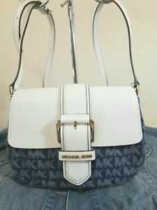 Michael Kors Lilian Crossbody White Leather and Denim
