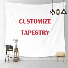 Personalised Custom Wall Tapestry Wall Hanging Bedspread Blankets Poster Decor
