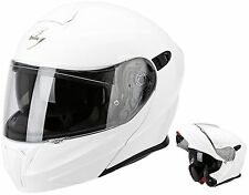 CASCHI CASCO MODULARE APRIBILE MOTO SCOOTER SCORPION EXO 920 AIR SOLID BIANCO S