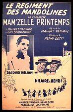Partition Ancienne - Le Régiment Des Mandolines - Eds. Paris Monde - 1946