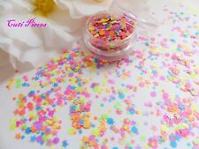NailArt Chunky *FireWorks* Neon Matt Hexagon Star Shape Glitter Spangle Mix Pot