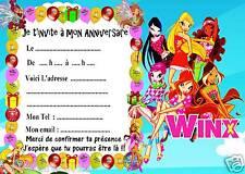 5 cartes invitation anniversaire Winx 03   d'autres en vente