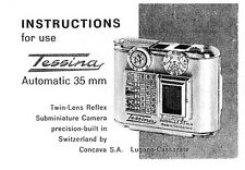 Tessina 35mm Subminiature Instruction Manual: Enlarged