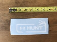 Under Armour Hunt White Antler Hunting Sticker/Decal Approx 6""