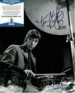 Charlie Watts signed 8x10 photo Rolling Stones Drummer Beckett