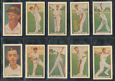 1930s Allens Test Cricketers Set  Don Bradman Mint 36 Cards Cricket 1930s r