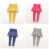Toddler Girl Wool Culotte Render Pants Kid Child Leggings Trousers Skirt 1-7 Y