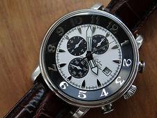 Graf von Monte Wehro Chronogaph Herren Armbanduhr in Stahl. Top Zustand