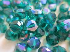 1 Gross VINTAGE W. German Full Tin Cut Beads Emerald AB 8mm w/Org. Packs!! WOW!!
