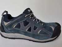 MENS NAVY SUEDE s.24  WORK SAFETY STEEL TOE CAP LOW SKATER TRAINER SHOE