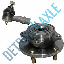 2pc Set: 1 Front Wheel Hub & Bearing Assembly + 1 Outer Tie Rod - Chrysler Dodge