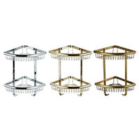 Corner Bathroom Rack Holder Storage Wall Mount Shower Caddy Shelf Organizer