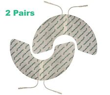 Crescent Shape Electrode Pads Self Adhesive TENS/EMS for Pain Relief 2 Pairs