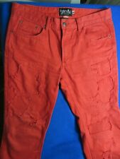 BORN FLY RED JEANS  SIZE 34 X 32