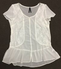 Crossroads Lace Panel Sheer Top - Size 8 - Excellent Condition
