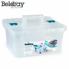 Beldray LA036735CLR Small DIY, Hobby, Cleaning Caddy with Lid, Clear