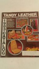 1983 Tandy leather craft/work catalogue/magazine tools/bags/belts