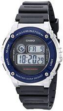 Original New Casio W-216H-2 Kids Mens Watch Digital Stopwatch Alarm 50M WR W-216