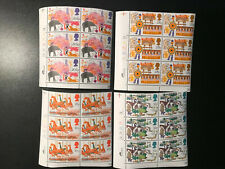 Gb Qeii Sg1227-1230 British Fairs Set Cylinder Blocks of 6 1983 Stamps Mnh